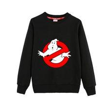 Ghostbuster impressão com capuz da criança do bebê moletom casual algodão meninos meninas hoodies outono inverno crianças roupas