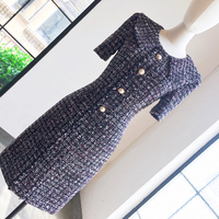New code covered temperament socialite French platy codon belly dress formal occasions fat mm big yards