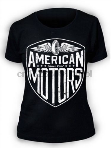 American Motors T-Shirt SCREENPRINTED Womens ladies Biker motorcycle usa retro