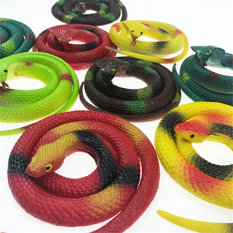 Various Reative Gift Realistic Soft Rubber Toy Snake Safari Garden Novelty Props Joke Prank Gift About 75cm Gag Playing Toy