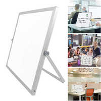 Double Side Whiteboard Office School Writing Board with Stand/Pen Magnets Buttons for Kids Home Office Message Drawing Board