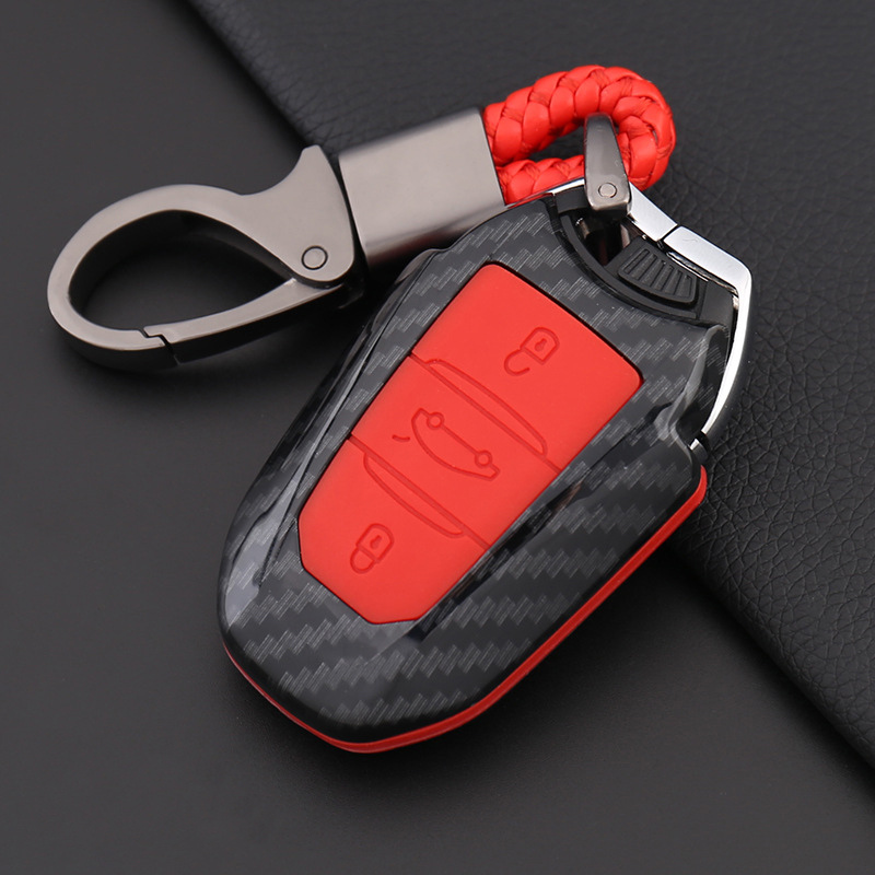 Colorful Carbon fiber Silicone Car <font><b>Key</b></font> Case For <font><b>Peugeot</b></font> 301 308 308S 408 2008 3008 4008 <font><b>5008</b></font> Car Styling Full <font><b>Cover</b></font> Accessories image