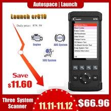 Lancement CR619 OBD2 Scanner moteur ABS SRS ODB2 outil de balayage multi langue lancement OBDII lecteur de Code voiture outil de Diagnostic mise à jour gratuite