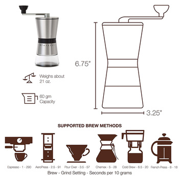 Easy Clean Kitchen Eco Friendly Home Portable Hand Crank Coffee Grinder Large Capacity Adjustable Stainless Steel Manual 3