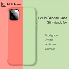 Cafele Silicone Liquid Case For iPhone 11 Pro Max Cover Ultra Thin Soft TPU Back Phone pro max Full Coverage