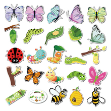 Stickers Caterpillar Butterfly Spring-Party-Decorations 50pcs Snail Bee Ladybug Luggage
