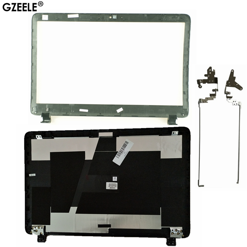 GZEELE New For HP ProBook 450 G2 455 G2 LCD Back Cover Top Case Rear Lid 768123-001 AP15A000100 Black/hinge