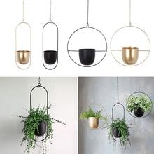 Decorative-Swinging Flower-Basket Iron Wall-Mount Hanging Home