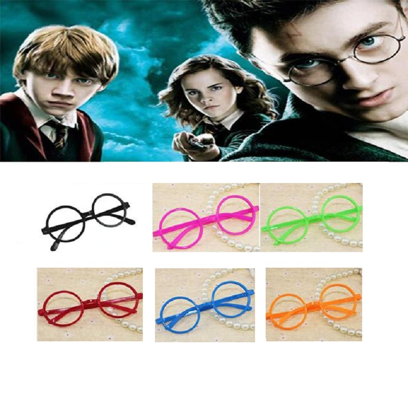 Movie Harri Potter Black Glasses Action Figure Toys Cosplay Party Accessories Multicolour Adult Kids Glasses Frame Birthday Gift