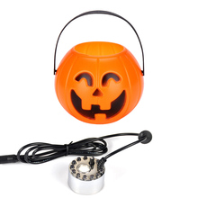 купить Newes Pumpkin Lantern Night Light Mist Maker Fountain Fogger Humidifier Multifunctional Candy Box Halloween Decorations онлайн