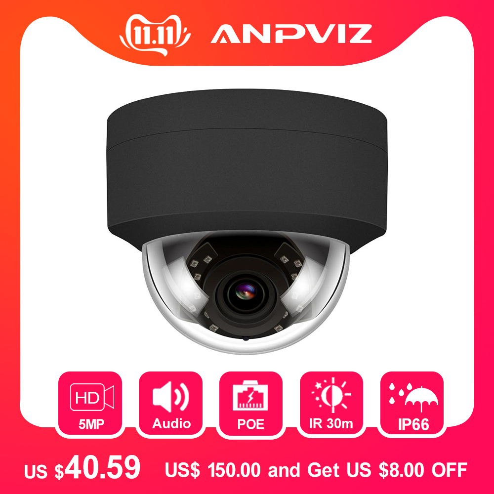 Hikvision Compatible H.265 5MP POE IP Camera 2952*1944 Plug & Play Outdoor Dome Security Video Surveillance Cameras CCTV