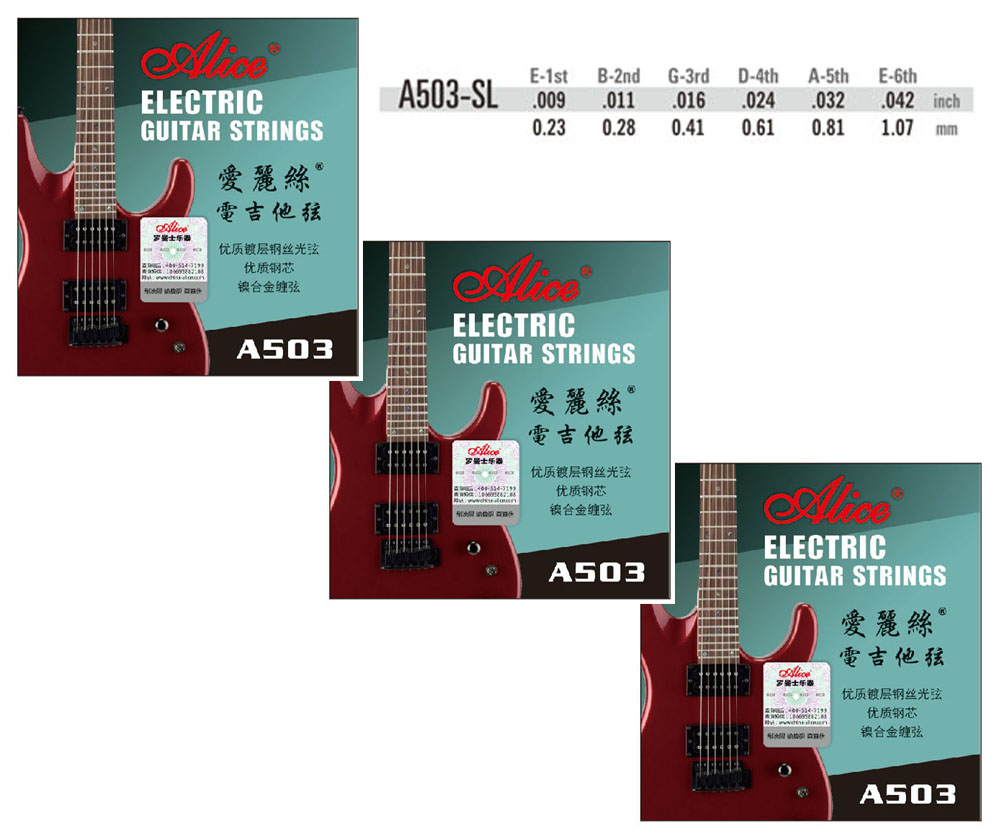 Image 2 - 3 Sets Alice A503 Coating ANTI RUST plain steels Electric Guitar Strings-in Guitar Parts & Accessories from Sports & Entertainment