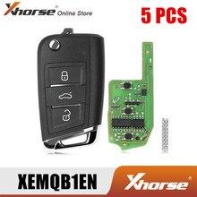 Xhorse XEMQB1EN Super Remoto Chave para VW MQB 3 Botões com Built-In Super Chip Versão Inglês 5 pçs/lote