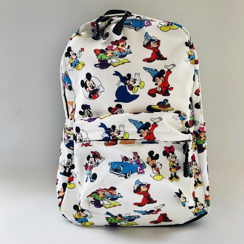 Disney Mickey Mouse Diaper Bag Children's Backpack Cartoon High Capacity Girl Outdoor Bag For School Waterproof Cute Print