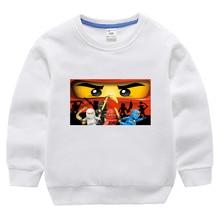 лучшая цена 2019 Summer Kids Boys T-shirt Ninja Ninjago T Shirts Children Clothing Cotton Top Tees Boys Girls Cartoon Costume 3-13y Hoodie