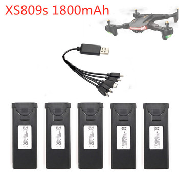 Original 3.85V 1800mAh Lipo Battery +5 in 1 Charger Set For VISUO XS809s XS816 RC Quadcopter Spare Parts 3.7v Battery For Drone image