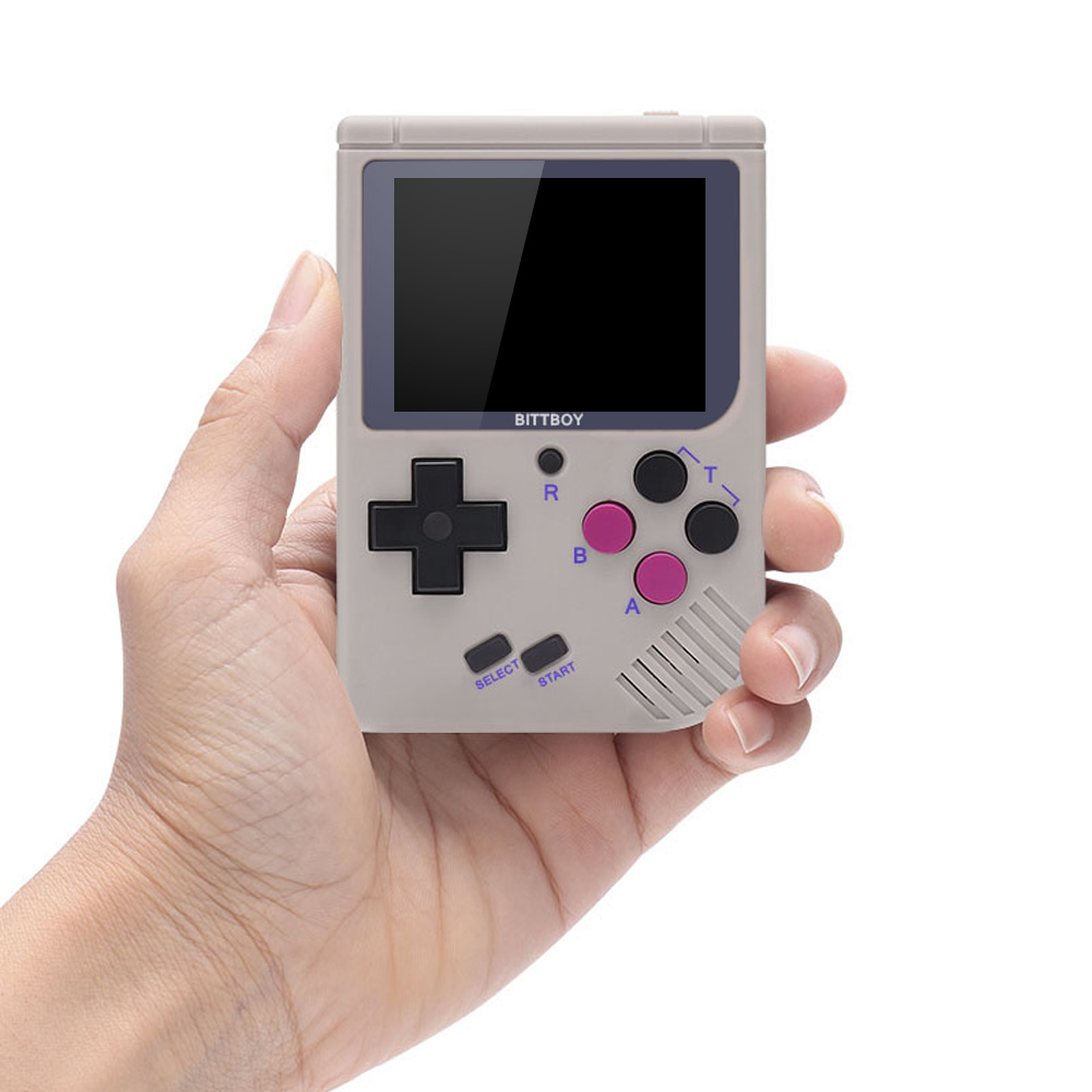 New BittBoy V3 5 Video Game Console Retro Handheld Save Load Game Console  8GB MICRO SD CARD