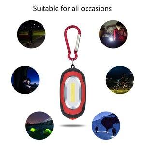Многофункциональный COB светодиодный фонарик портативный мини-брелок Карманный ручной фонарик лампа многоцветный мини-фонарик