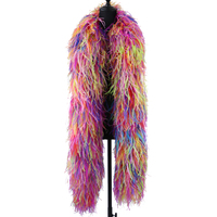 2 Meters 10 Ply Ostrich Feathers Boas Ostrich Plumes Shawl for Wedding Dresses Party Clothing Decoration Sewing Accessory Crafts