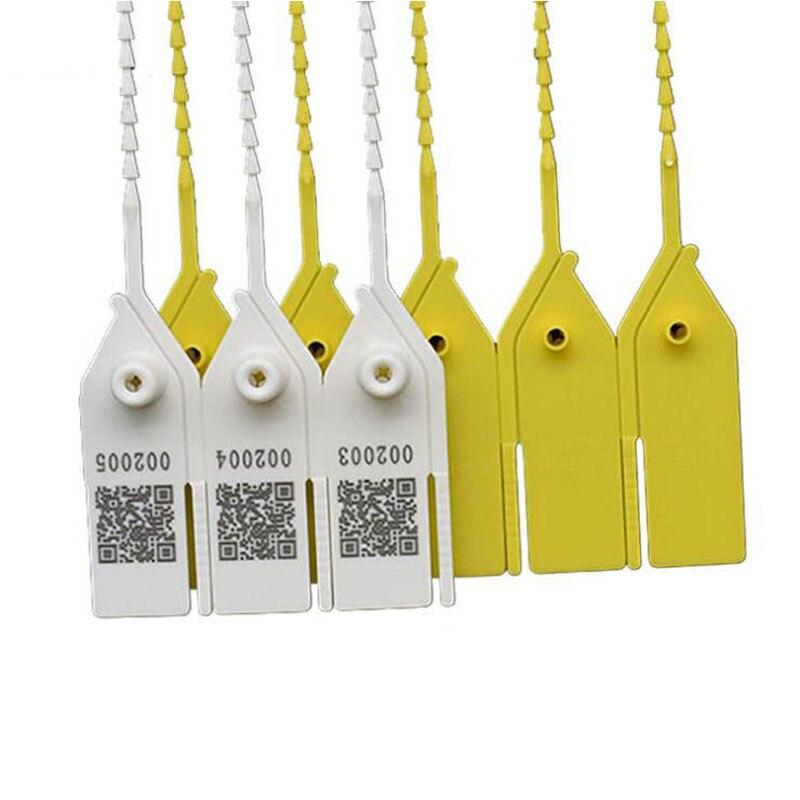 100 pces selos plasticos descartaveis anti roubo fivela etiqueta cabo lacos embalagem roupas sapatos bagagem anti