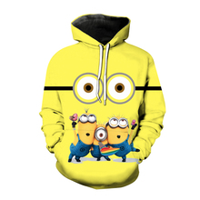 saozi Minions Unisex Hooded Sweatershirt for Mens and Women