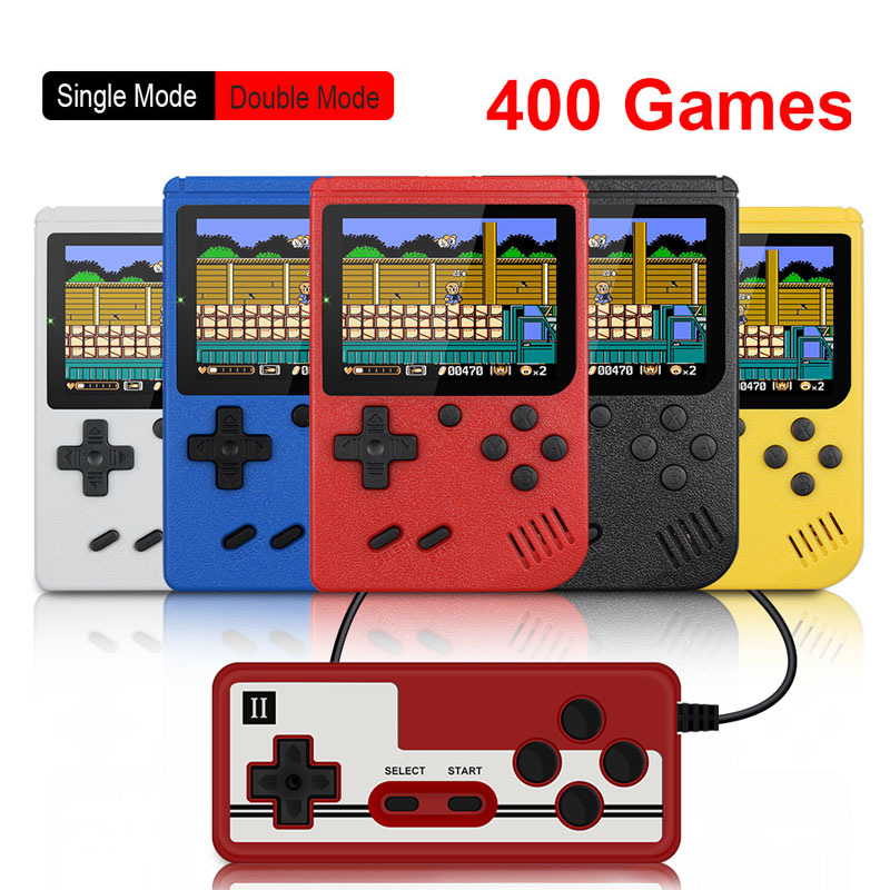 8-Bit 3 0 Inch Color LCD Kids Color Game Player Gamepad Built-in 400 games Retro Portable Mini Handheld Video Game Console