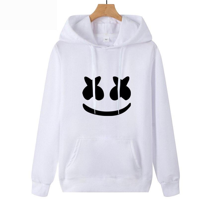 2019 Autumn AliExpress New Style Hot Sales Marshmello Face Hoodie Casual Thin Men's Sweatshirts & Hoodies