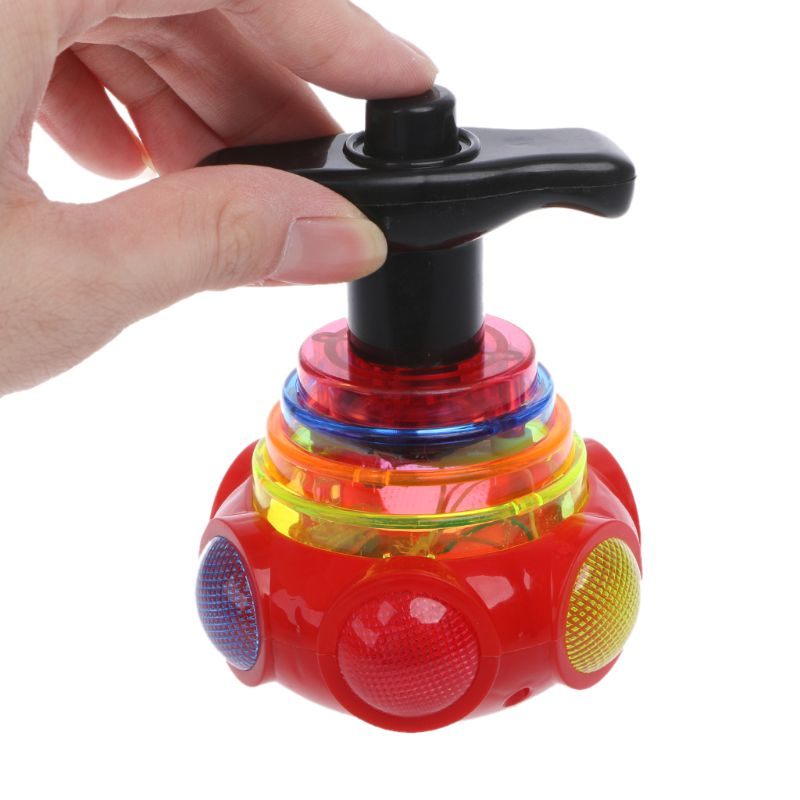 New Colourful Light Music Gyro Peg-Top Arena Spinning Tops Kids Children Toy Q6PD(China)