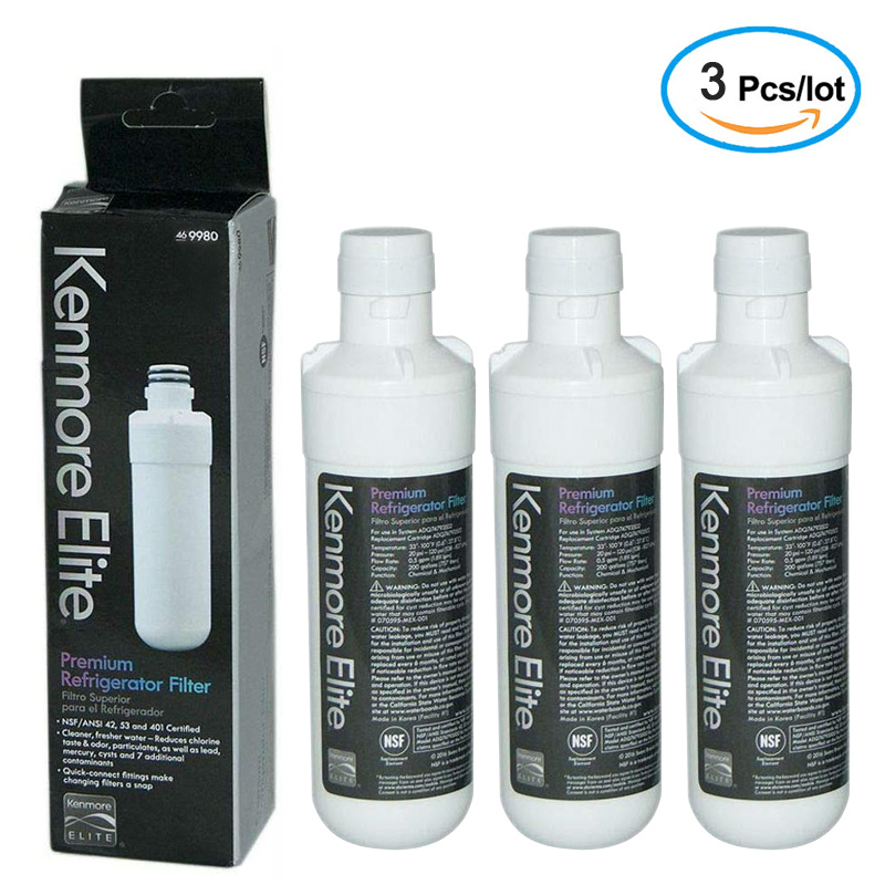 Refrigerator Water Filter Replacement  LG LT1000P, LT1000PC, , ADQ74793501, ADQ74793502,  Kenmore 46-9980, 9980 (Pack Of 3)