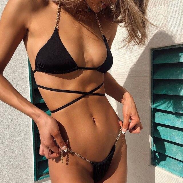 Chain Halter Bikini