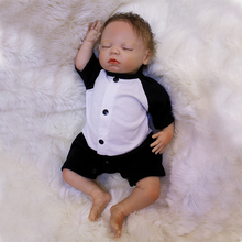 18 Inch Lifelike Reborn Girl Dolls Silicone Newborn Baby Dolls Fashion Baby Dolls For Child Birthday Christmas Gift for Child new 18 inch cute reborn babies dolls soft silicone lifelike newborn baby girl dolls that look real kids birthday xmas gift