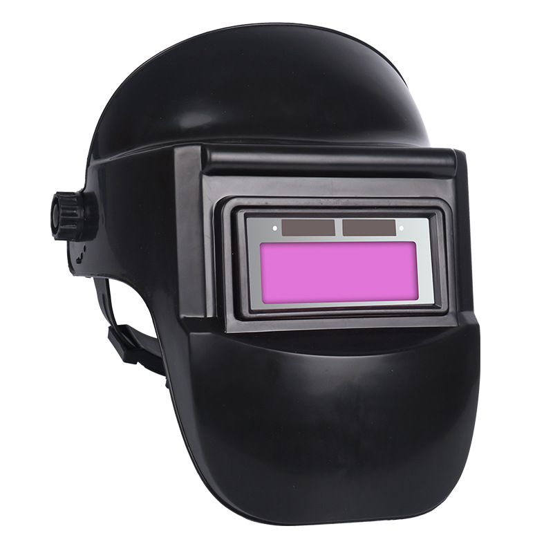 Welding Helmet Solar Auto Darkening Black Protective Mask Anti-Glare Lens Head-Mounted Arc Radiation Welder Mask Headband