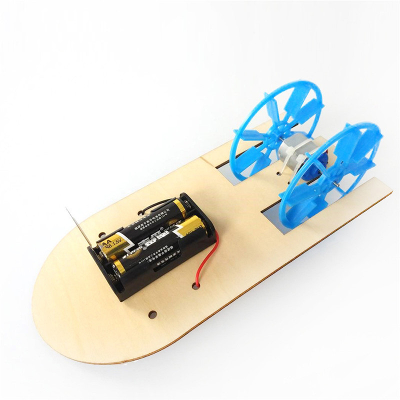 Electric boat science education toy DIY Electronic Assembly Boat Model Toy Scientific Experiment Toy For Kids Gifts #4J09 (4)