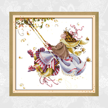 Fly Higher Patterns Counted Cross-Stitch, DIY Cross stitch Needlework Embroidery kits,Precise Printed Handwork Crafts