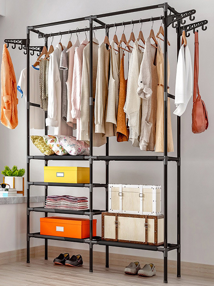 Hanger Coat-Rack Clothing Wardrobe Porte Drying-Racks Storage Manteau COSTWAY Kledingrek