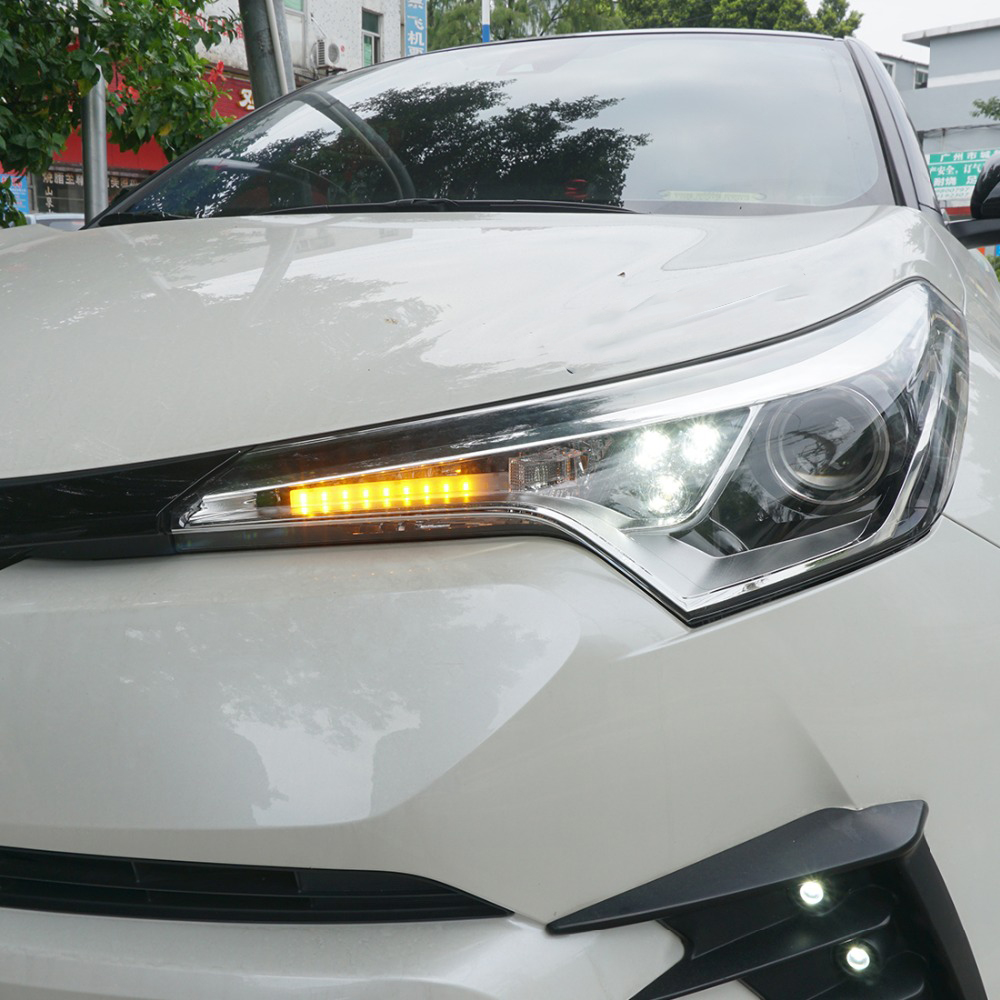 Waterproof LED DRL Turning Flashing Signal Yellow Light For Toyota C HR 2017 2018 Daytime Running Light For CHR 2019 ACCESSORIES|Interior Mouldings| |  - title=