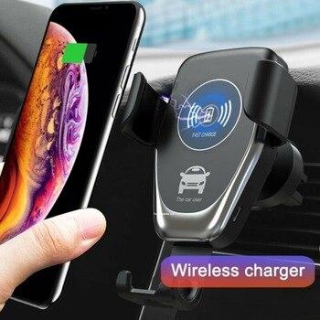 Automatische Qi Drahtlose Ladegerät Schnelle Auto Lade Telefon Halter 10W QI Drahtlose Schwerkraft Handy Halterung