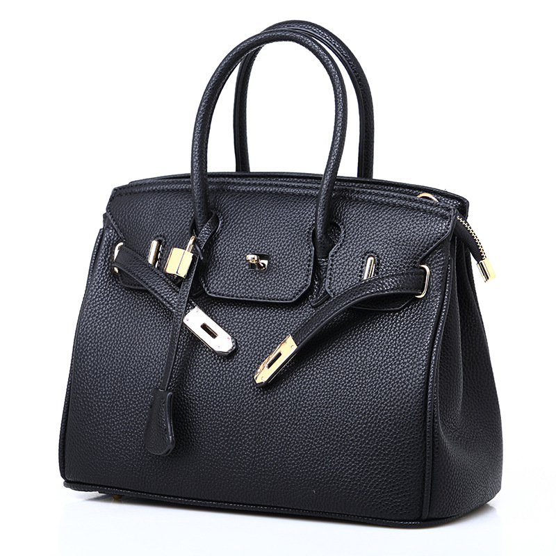 New women's bag European and American fashion lychee pattern platinum bag slant span single shoulder women's handbag