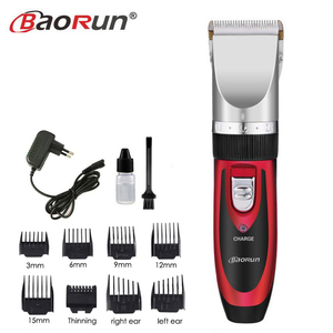 Image 2 - Rechargeable Electric Clippers Professional Hair Clipper for Men Adjustable Salon Clipper Cordless Hair Trimmer 8pcs Nozzles