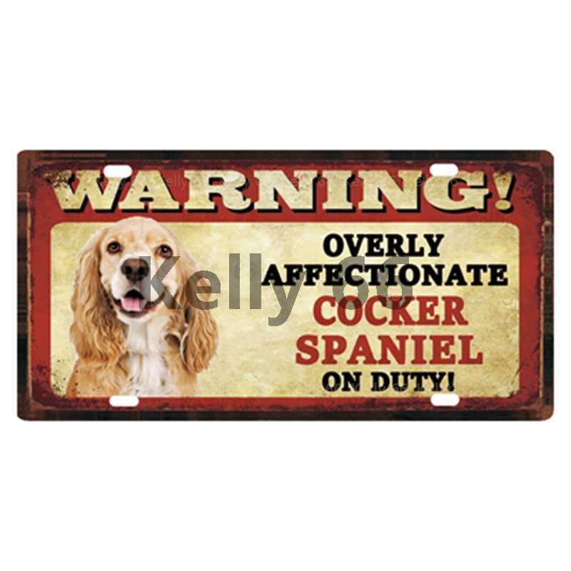 [[Kelly66] Thú Cưng Chó Pomeranian Mượt Chó Sục Shiba Inu Tín Áp Phích Kim Loại Ký Trang Trí Nhà Thanh Tường Tranh Nghệ Thuật 15*30 Cm Kích Thước C-4
