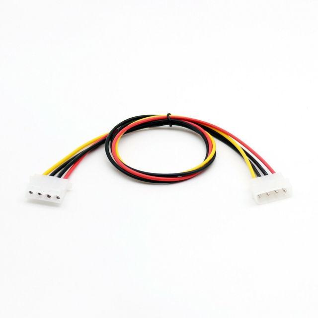 1 PC 50 cm/1.5ft IDE 4 PIN Molex Power ชาย IDE 4 PIN Molex หญิง JACK EXTENSION สายเชื่อมต่ออะแดปเตอร์