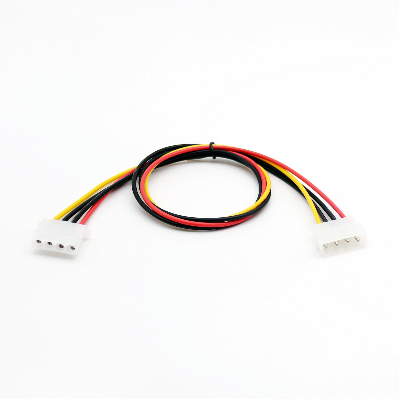 1pc 50cm/1.5ft IDE 4 PIN Molex Power Male To IDE 4 PIN Molex Female Jack Extension Adapter Connector Cable