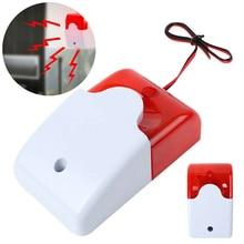 Mini Wired Strobe Warning Siren Durable Dc 12V Sound Alarm Flashing Light