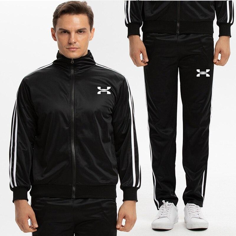 Men's Sets Track Suit Autumn Fashion Sportwear Suit Sweatshirt Tracksuit Men Casual Active Zipper Outwear Jacket+Pants Sets