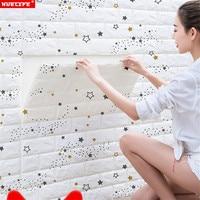 Wallpaper self adhesive wall stickers cartoon kids room bedroom decoration waterproof moisture proof wallpaper wall renovation