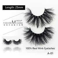 QSTY1pairs 25mm 6D Nerz Wimpern Natürliche Lange Falsche Wimpern Volumen Gefälschte Wimpern Make-Up Verlängerung Wimpern maquiagem