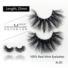 QSTY1pairs 25mm 6D Mink Lashes Natural Long False Eyelashes Volume Fake Makeup Extension maquiagem