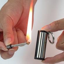 Fire-Starter Keychain Kerosene Survival-Tools Match-Lighter Times-Flint Outdoor Free