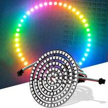 Anneau RGB adressable avec pixels WS2812B, 8 16 24 35 45 LED s, WS2812 5050 RGB LED, WS2812 ic, led bande DC 5V, coloré