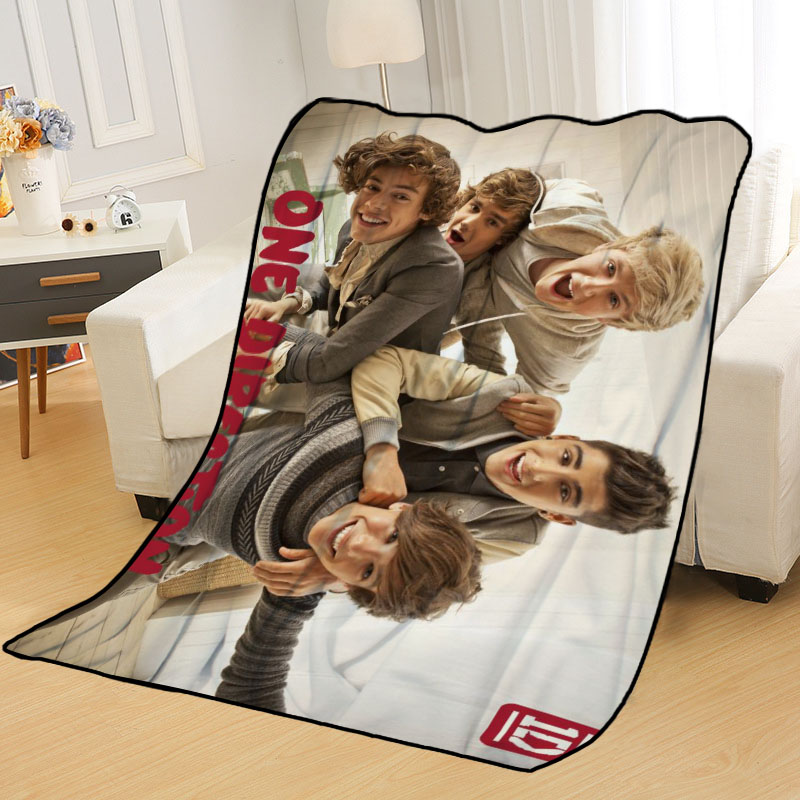 New Arrival One Direction Blankets Printing Soft Nap Blanket On Home/Sofa/Office Portable Travel Cover Blanket-5